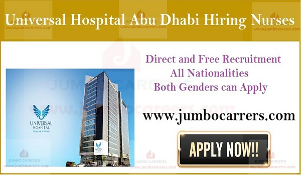 Latest nurse job vacancies in Dubai, Current hospital job openings in UAE,