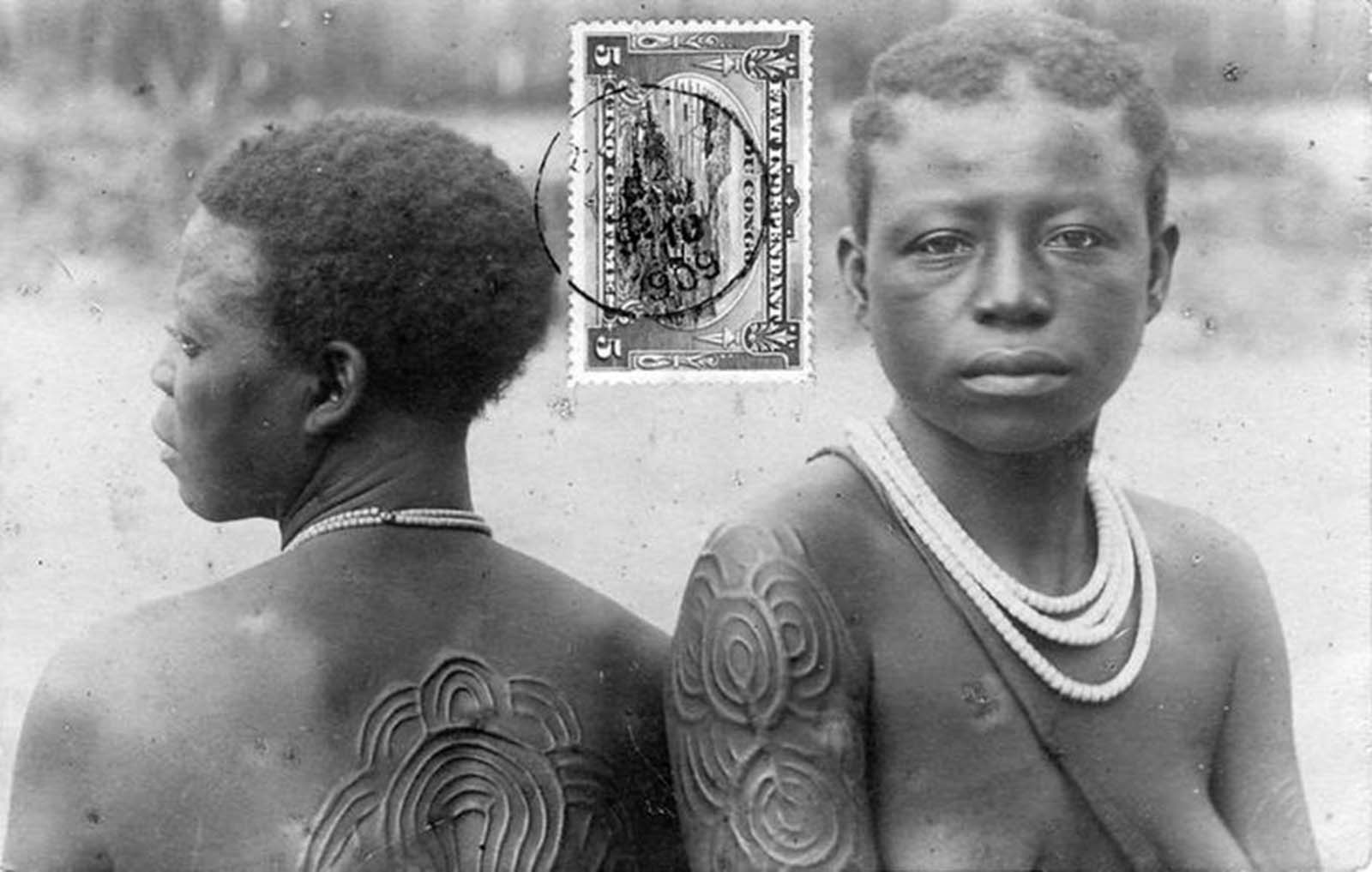 Postcards displaying indigenous forms of body decoration were also popular.