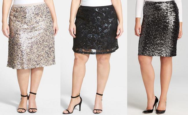 plus size sequin skirts holidays curvy fashion blog Sequin Blouse Plus Size
