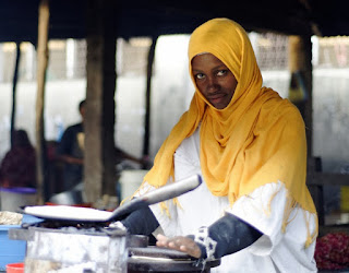 Cooking lunch in Senegal