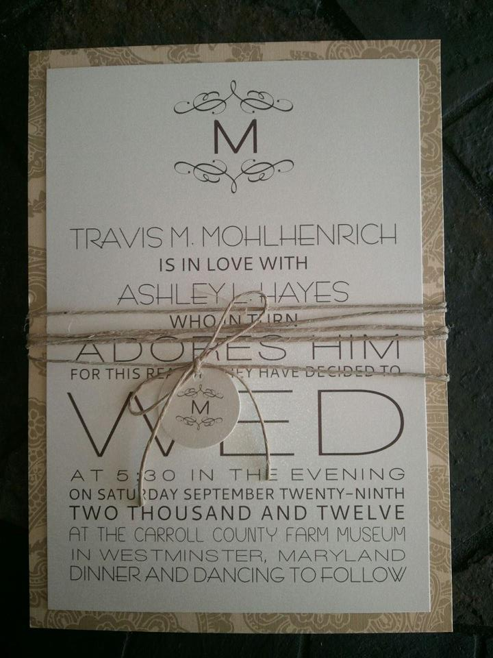 Rustic Country Wedding Invitations Kindly Rsvp Designs