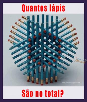 Teste de visão - Quantos lápis são no total?