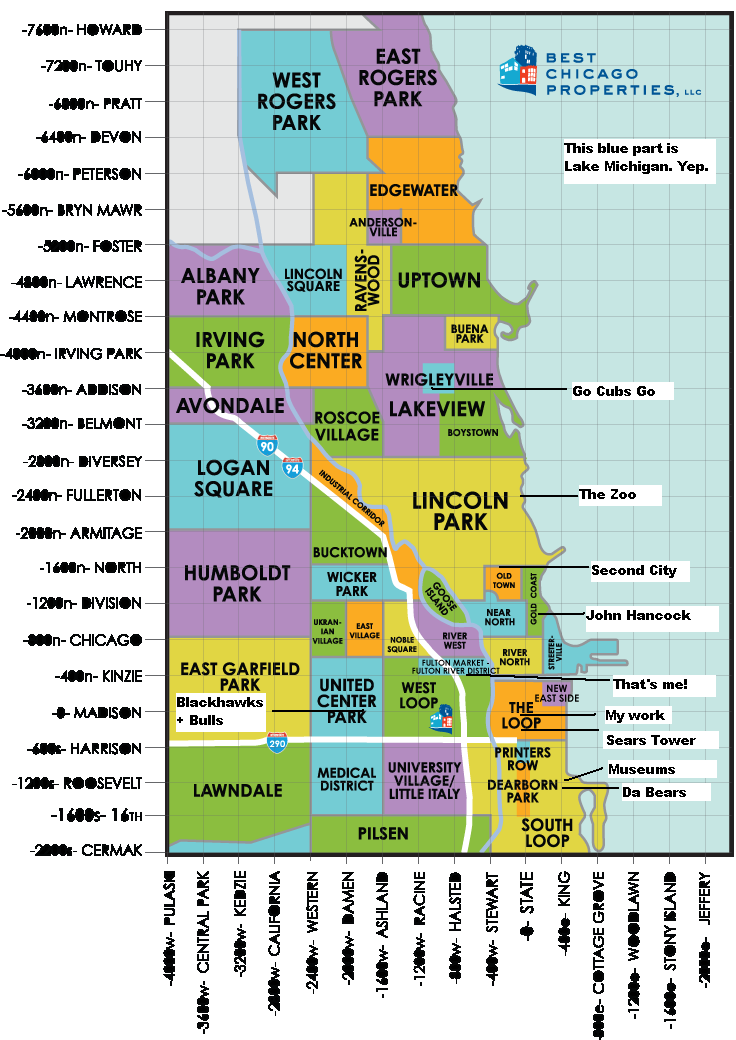 River North Area Chicago Map.A Helpful Chicago Map Not Entirely Perfect