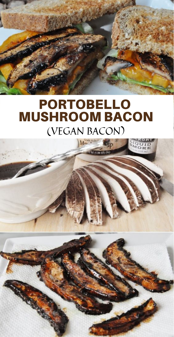 PORTOBELLO MUSHROOM BACON – VEGAN BACON #Vegan #Bacon