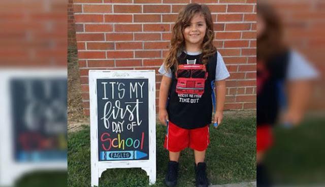 Bocah 4 Tahun Dikeluarkan dari Sekolah Karena Rambut Panjangnya.