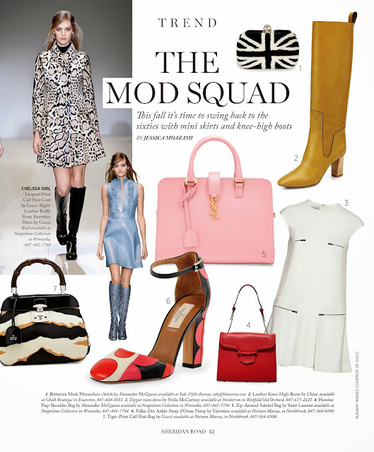 The Mod Squad fashion trend for 2014 featured in Sheridan Road Magazine by Jessica Moazami