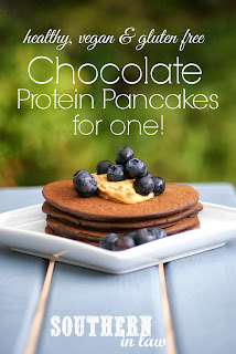 Healthy Single Serve Vegan Chocolate Protein Pancakes Recipe