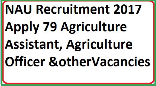 NAU Recruitment 2017