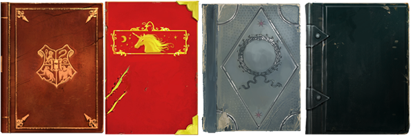 Storia di Hogwarts, Animali Fantastici: dove trovarli, Storia della Magia, Le Forze Oscure: guida all'autoprotezione
