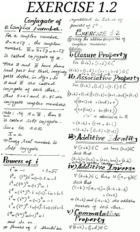 Exercise 1.2 Mathematics Fsc Part 1 First Year solved free Download ...