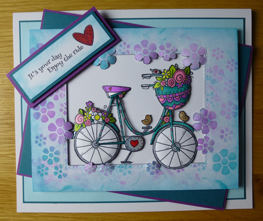 Card using Woodware products