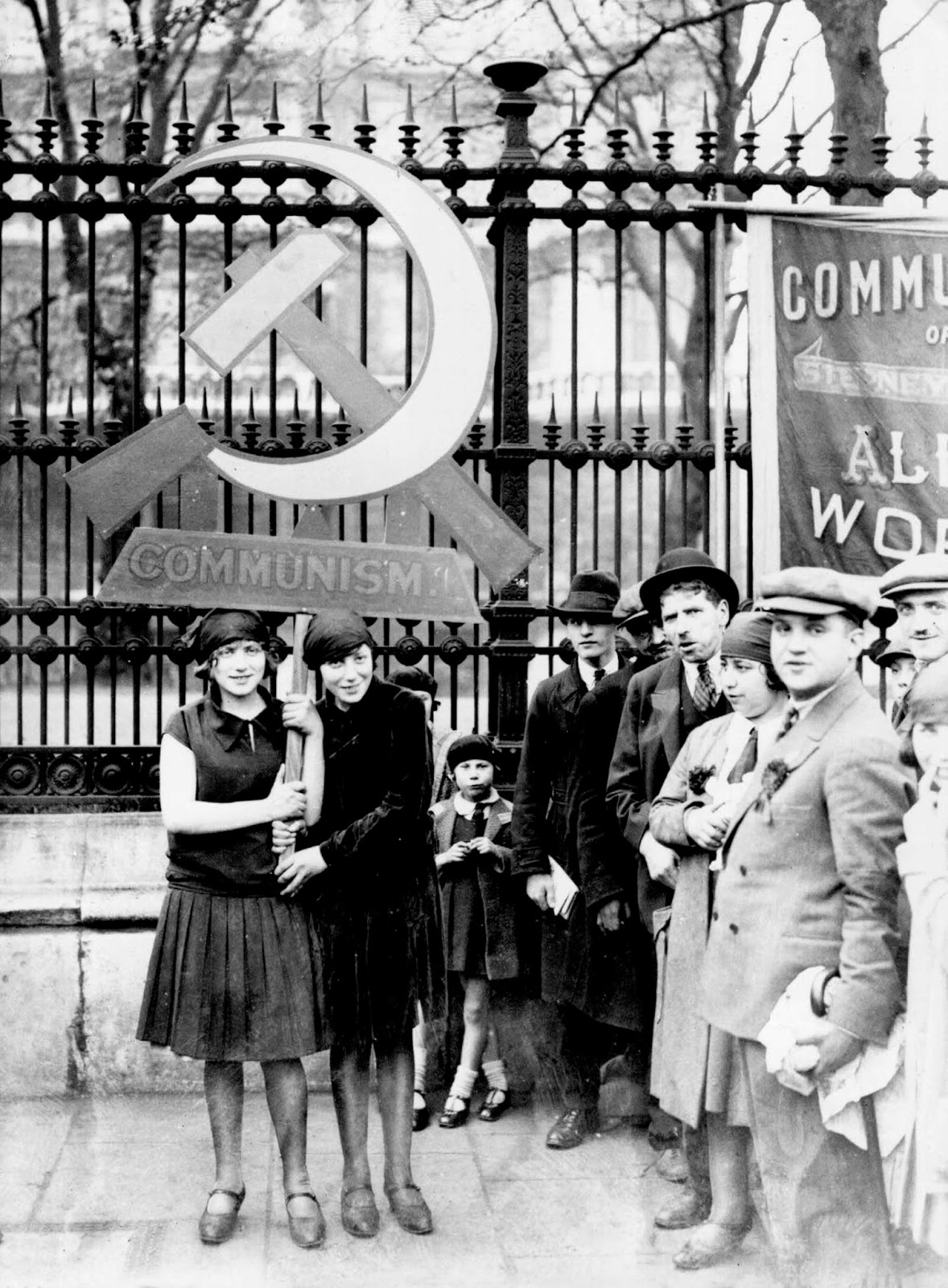 Communists in London celebrating May Day. 1928.