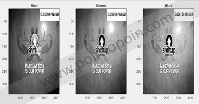 Output Pengolahan Citra Mode Grayscale