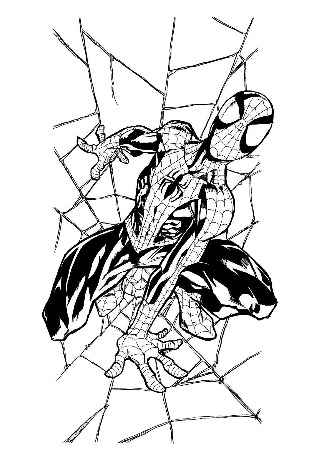 Spiderman Vs Venom Coloring Pages Ultimate Spiderman Coloring