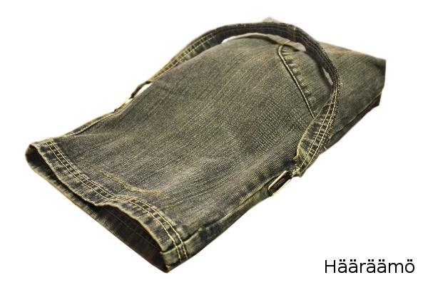 Helppo laukku farkkujen lahkeesta