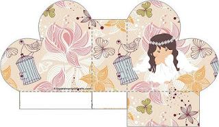 Angel in Vintage Garden Free Printable Heart Box.