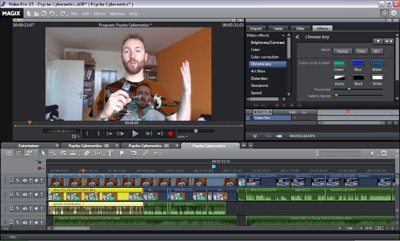 Chromakey Video Editing (Green Screen in Magix)