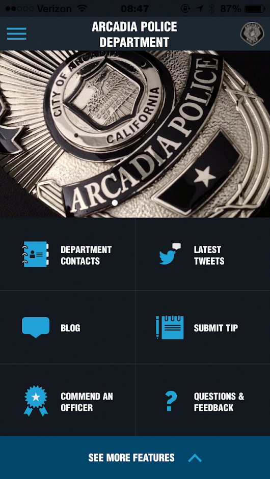 The Arcadia Police Department Announces a Major Upgrade to its MyPD App with New Features and Updated Design