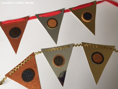 Hama bead medal bunting for sports or Olympics