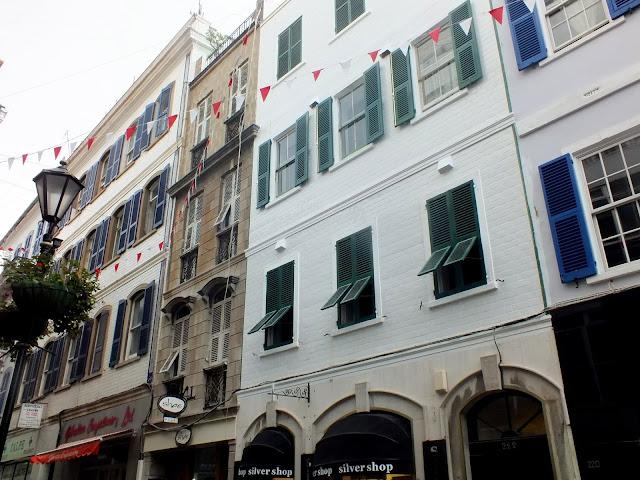 fachadas de las casas en Gibraltar