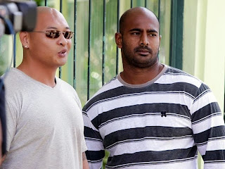 Andrew Chan (left) and Myuran Sukumaran (right)