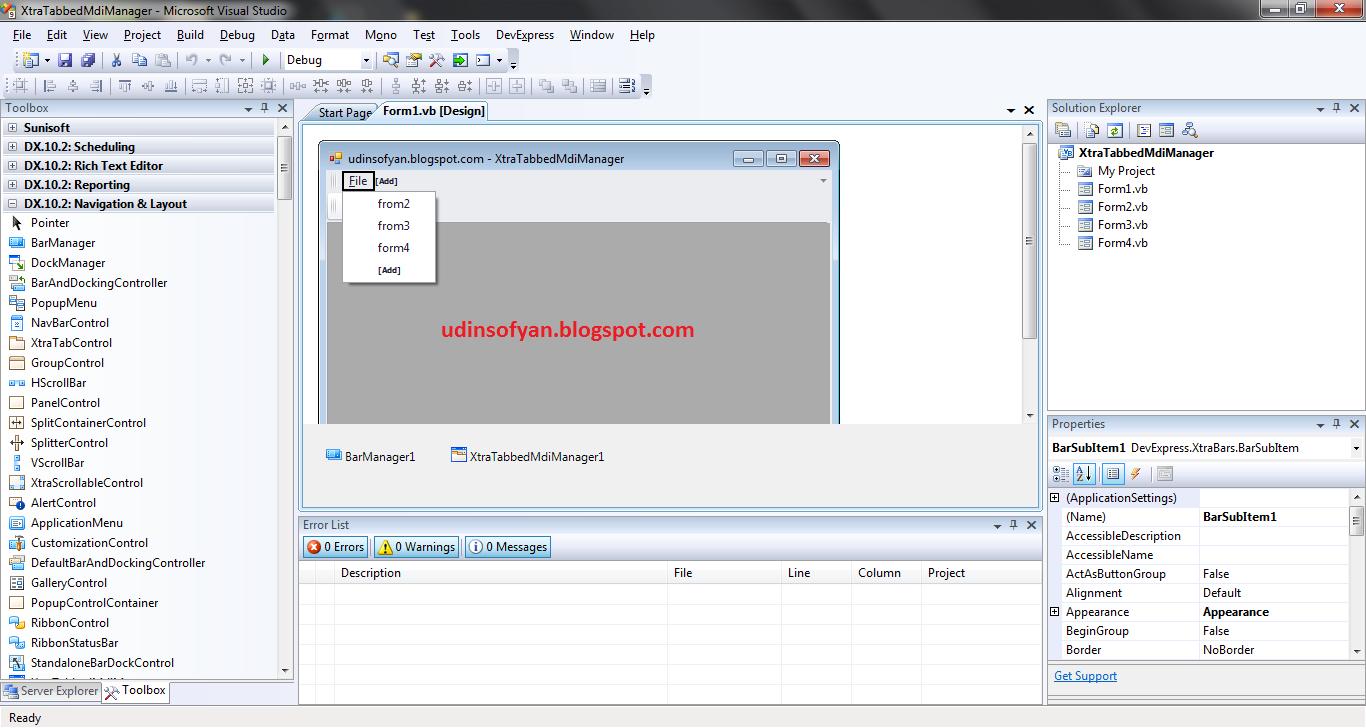 Devexpress Winforms Modal Dialog