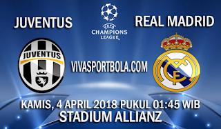Prediksi Juventus vs Real Madrid 4 April 2018
