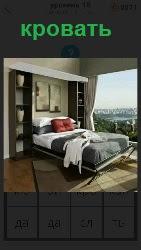 460 слов 4 В большой и светлой комнате стоит кровать и открыты шторы на окнах, впуская солнечный свет 18 уровень