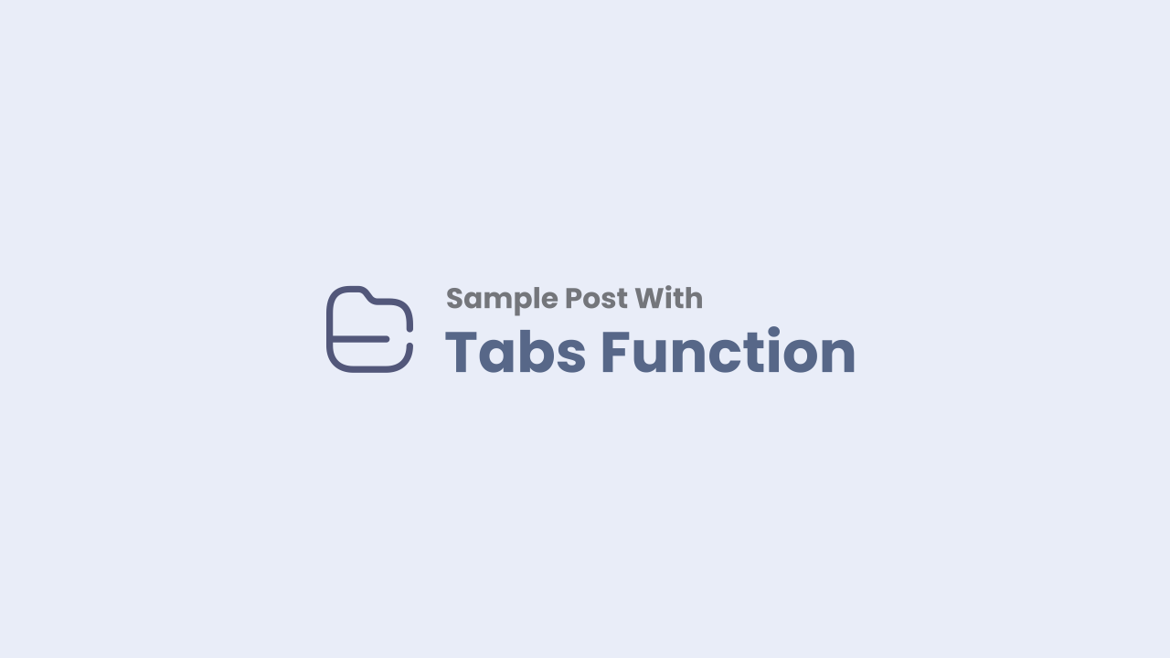 Tab Post - Add Tabs Function on Article