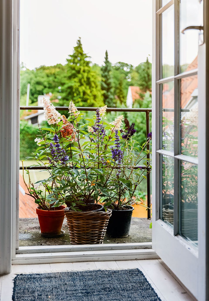 The windowsill is a great area to showcase your potted herbs, flowers, or plants- design addict mom