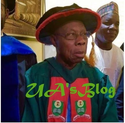 President Buhari Congratulates Obasanjo For Bagging PhD