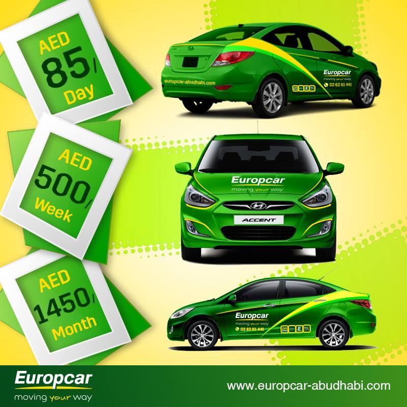 Europcar Abu Dhabi Rent A Branded Europcar Vehicle