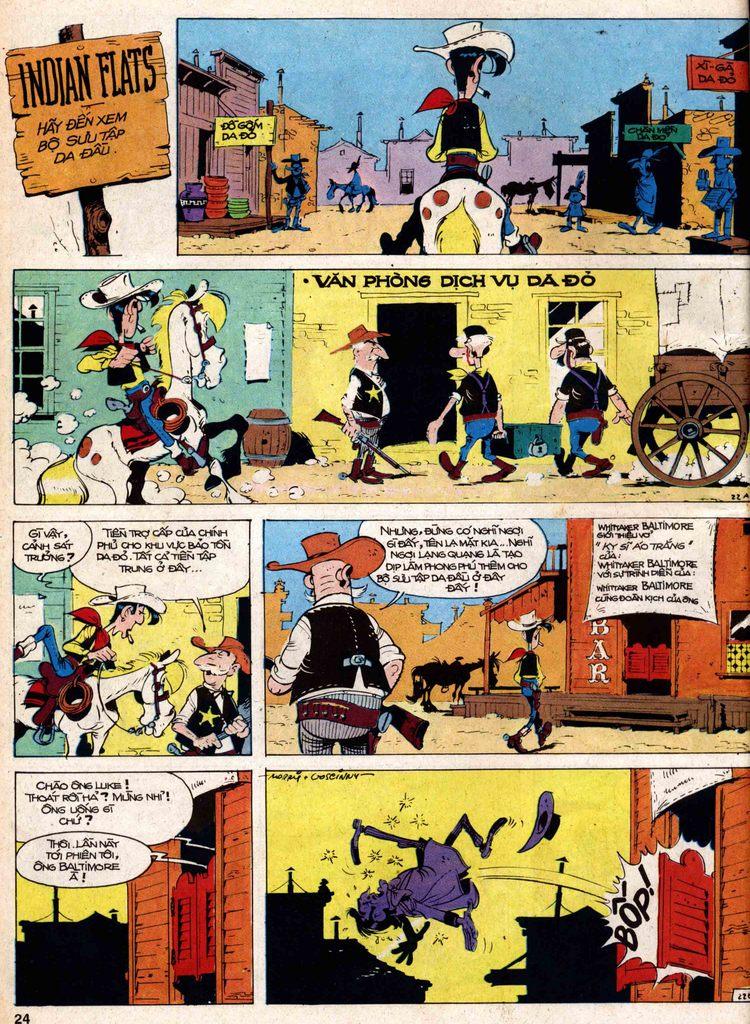 Lucky Luke tap 18 - ki si ao trang trang 22