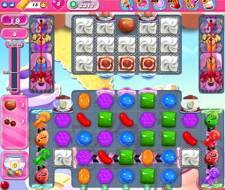 Candy Crush Saga level 2317