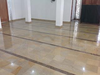 Lantai marmer Ujung Pandang 30 x 30 cm  terpasang
