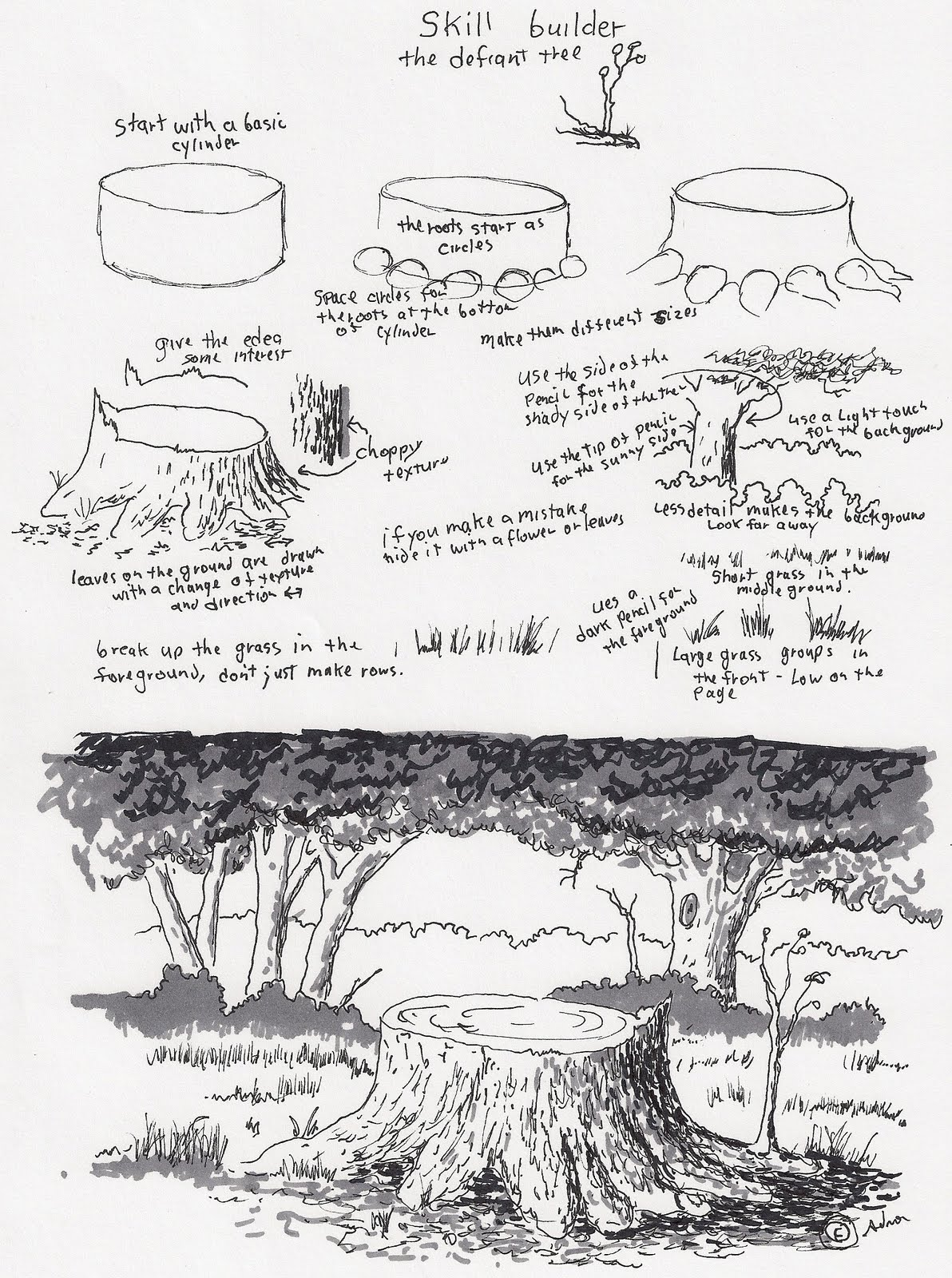 tree stump drawing - Google Search | Drawing Ideas | Pinterest ...
