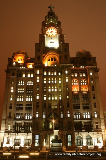 Liver Building at Night, Liverpool