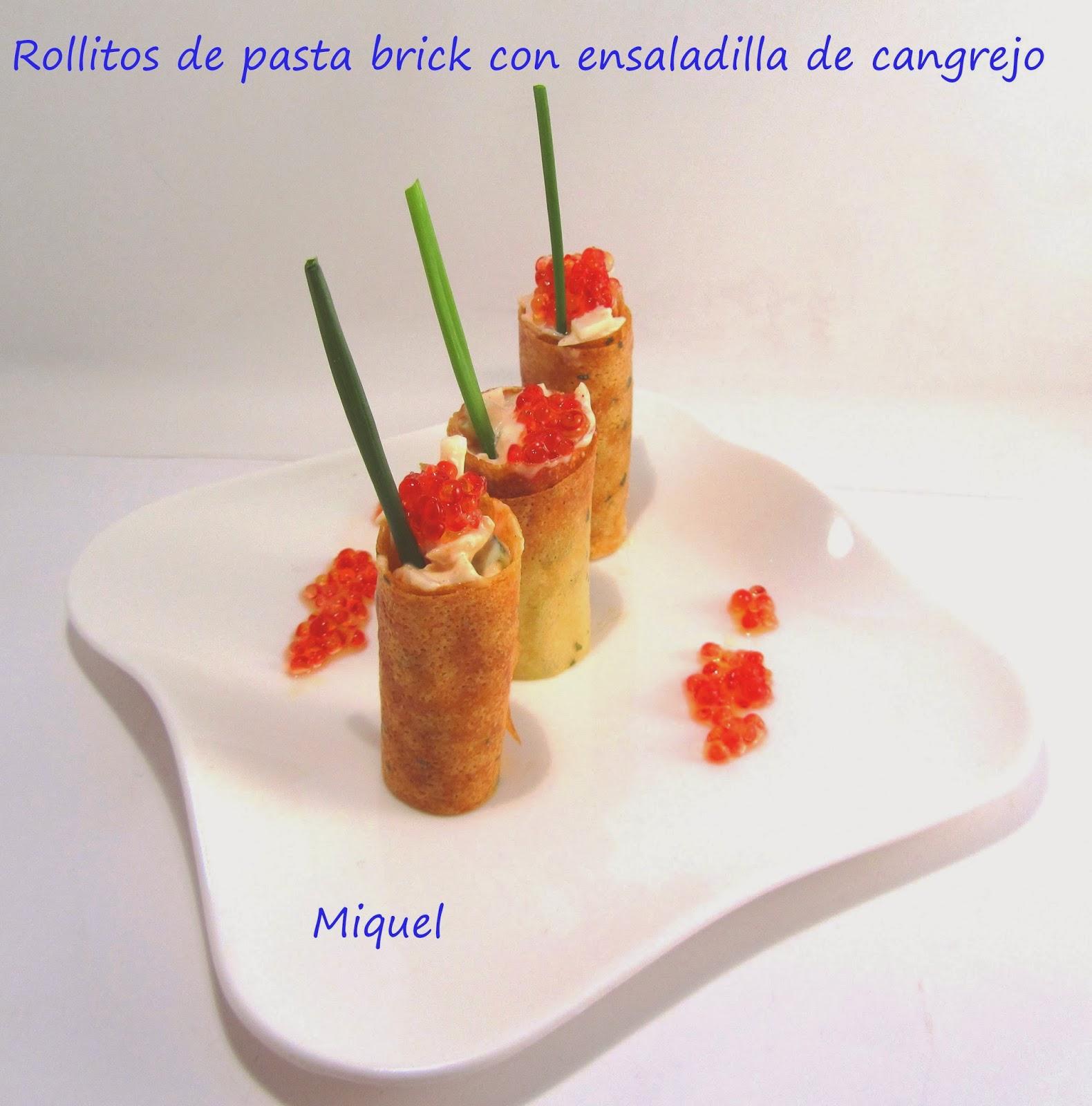 Les receptes del miquel rollitos de pasta brick con - Que hacer con la pasta filo ...
