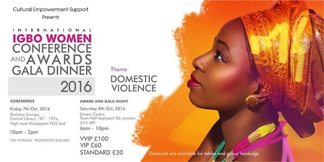 INTERNATIONAL IGBO WOMEN CONFERENCE & AWARDS GALA DINNER 2016
