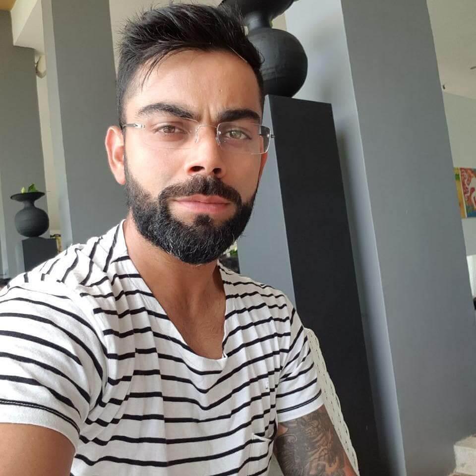 virat kohli beard style