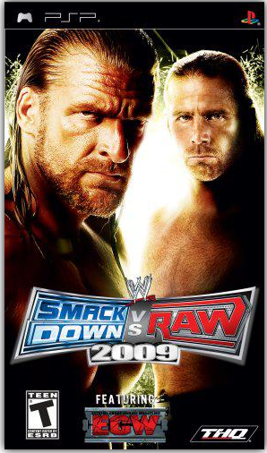 Download Game PPSSPP/PSP WWE SmackDown! vs. RAW 2009 featuring ECW (USA) ISO