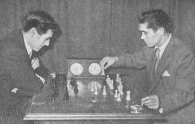 Partida de ajedrez Rubio contra Gete en el Torneo Real Madrid 1956