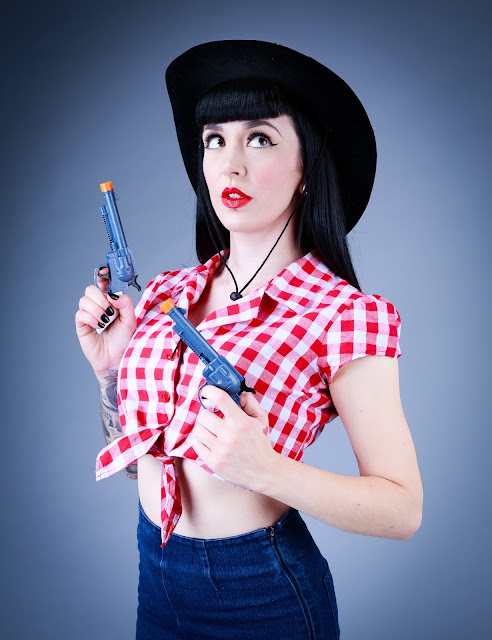 Cowgirl Pinup Photoshoot - Little Miss Doo Wop - Portraits & Pinups