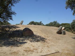 Vista general del túmulo