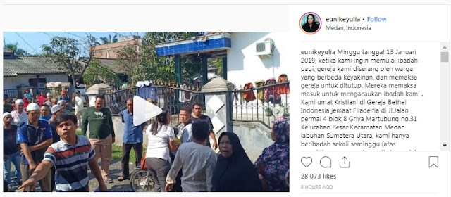 Warga 'Geruduk' Gereja di Medan, Polisi: Tak Ada Larangan Ibadah tapi Bangunan Gereja Belum Berizin