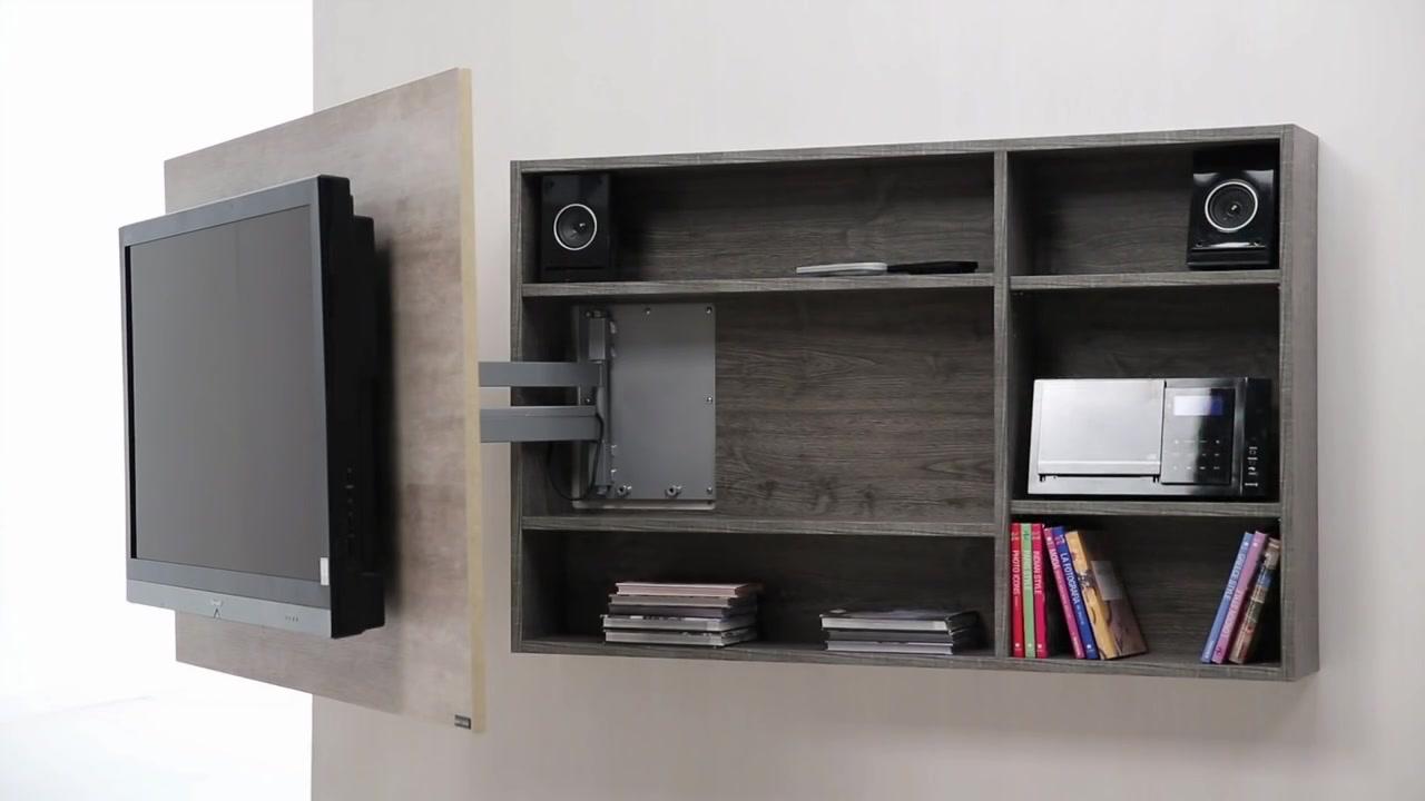 Diseo de muebles para Tv giratorio de melamina  Web del