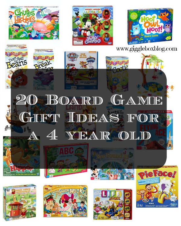 20 Board Game Gift Ideas for a 4 year old | Gigglebox ...