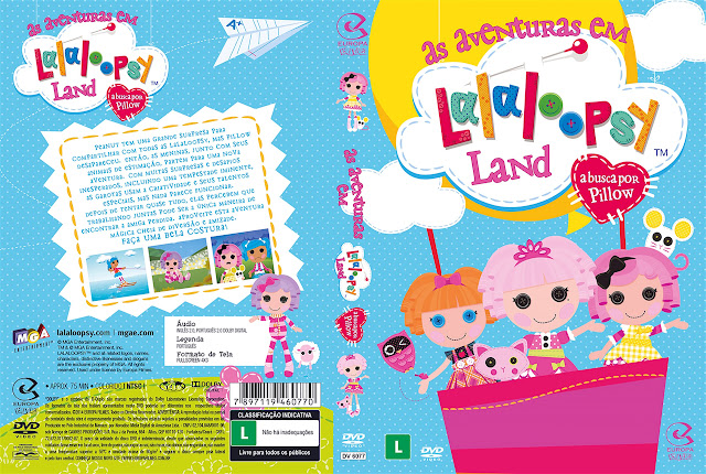 Capa DVD as aventuras em Lalaloopsy Land a busca por Pillow