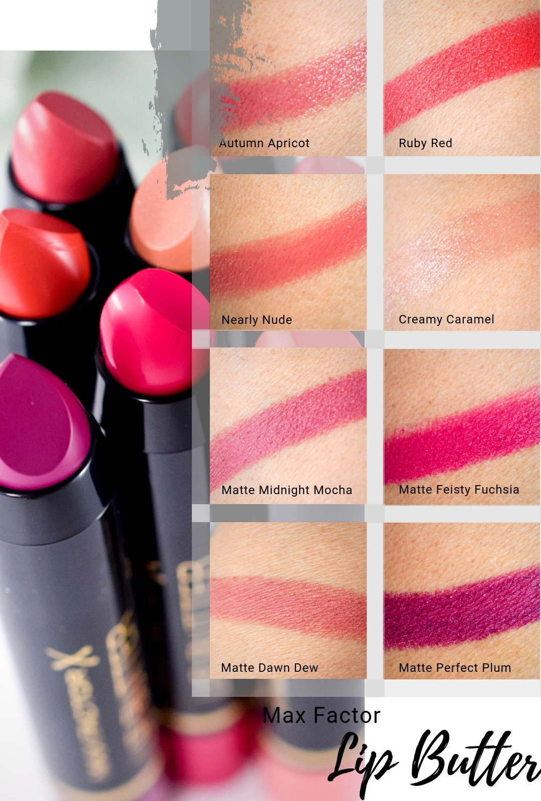 Die Farben der Max Factor Colour Elixir Lip Butters