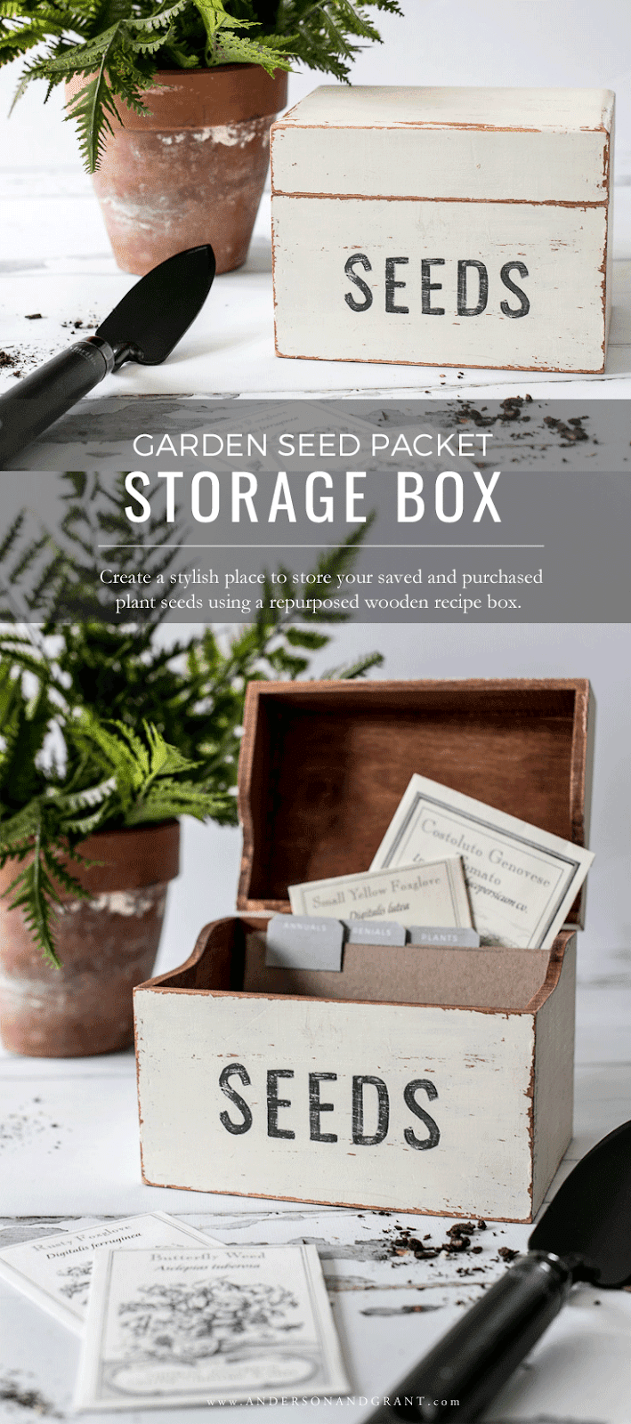 Garden Seed Packet Storage Box